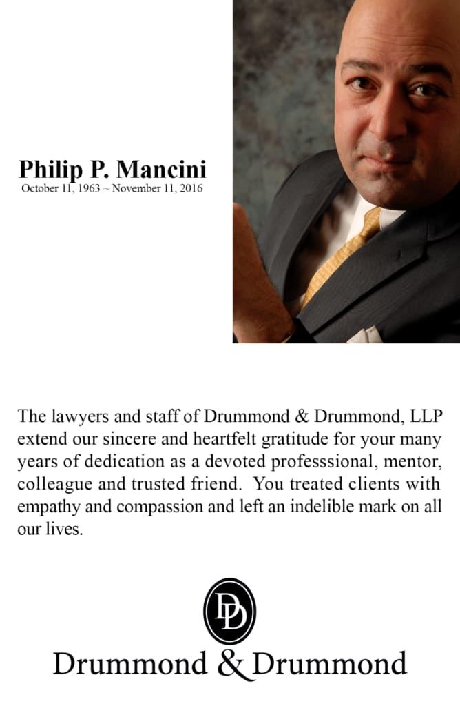 Philip Mancini Rememberance